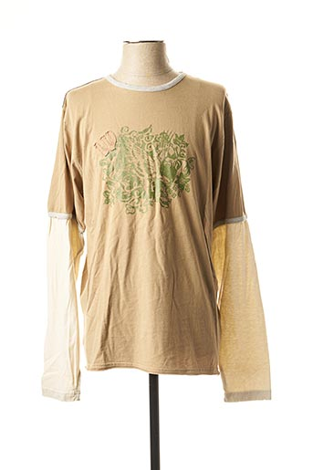 T-shirt manches longues beige WEARFIRST pour homme