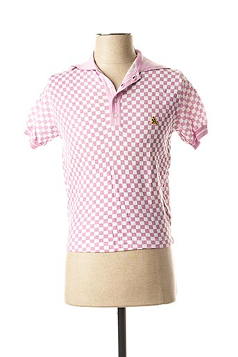 Polo manches courtes rose A-STYLE pour homme
