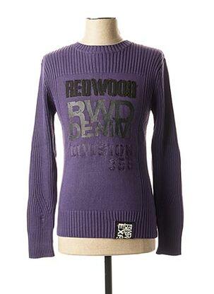 Pull col cheminée violet RWD pour homme