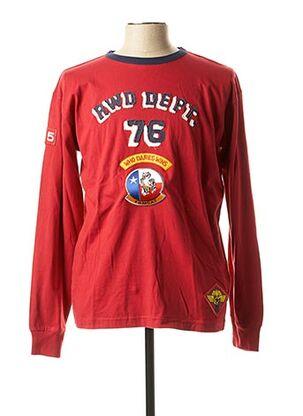 T-shirt manches longues rouge RWD pour homme