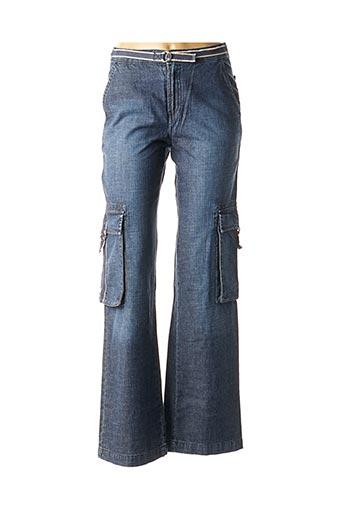 Jeans coupe large bleu TEDDY SMITH pour fille