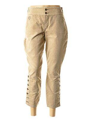 Pantalon 7/8 beige SCHOOL RAG pour femme
