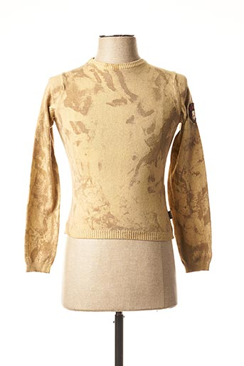 Pull col rond beige TEDDY SMITH INDUSTRY pour fille