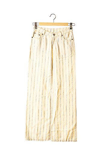 Pantalon casual beige REPLAY AND SONS pour fille