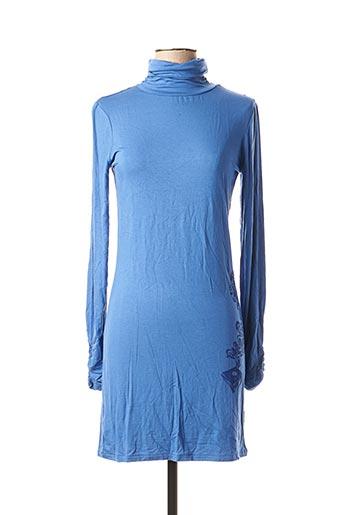 Robe mi-longue bleu BEYOUK pour femme
