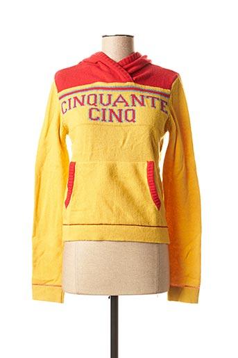 Sweat-shirt jaune 55 DSL pour femme