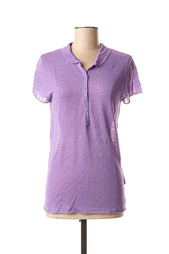 Pull col chemisier violet NOT SHY pour femme