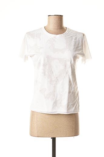 T-shirt manches courtes blanc CHEYENNE pour femme