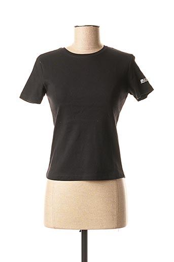 T-shirt manches courtes noir KARIBAN pour femme