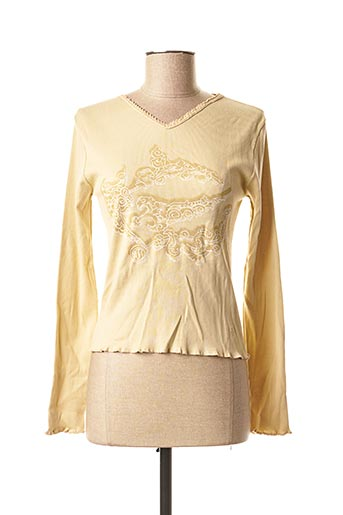 T-shirt manches longues beige TEDDY SMITH pour femme