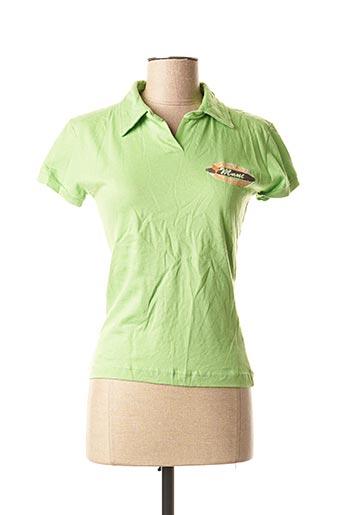 Polo manches courtes vert BLEND SHE pour femme