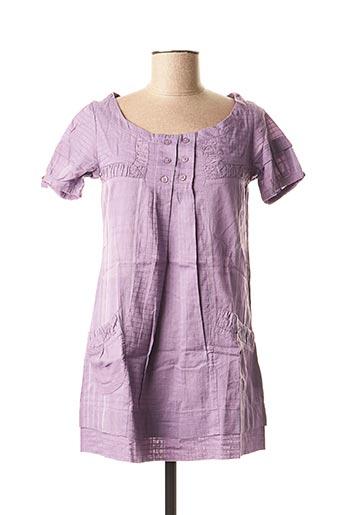 Tunique manches courtes violet 2 TWO pour femme