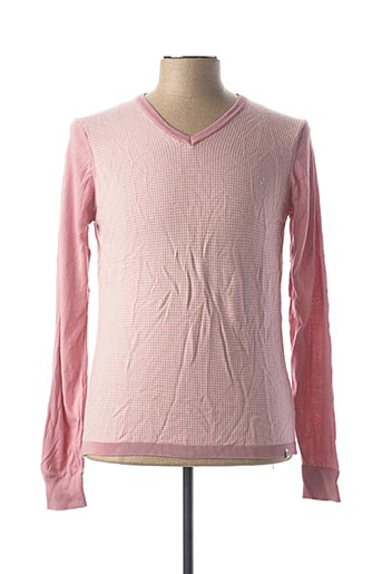 Pull col V rose GUESS BY MARCIANO pour homme