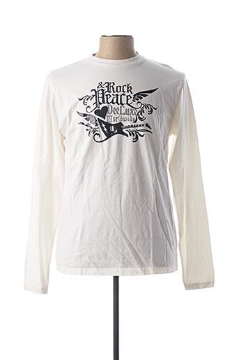 T-shirt manches longues blanc DEELUXE pour homme