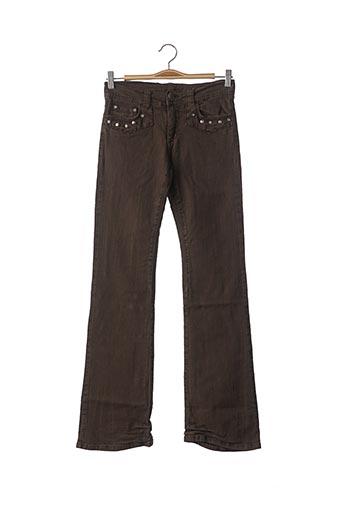 Pantalon casual marron CIMARRON pour fille