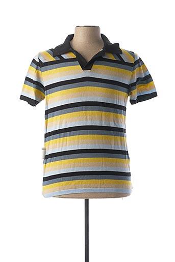 Polo manches courtes jaune FREDERIC HOMS pour homme