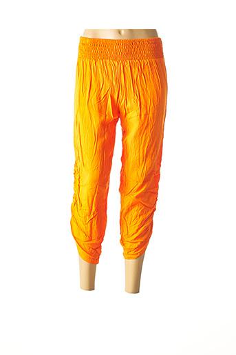 Pantacourt décontracté orange BEACHWEAR pour femme