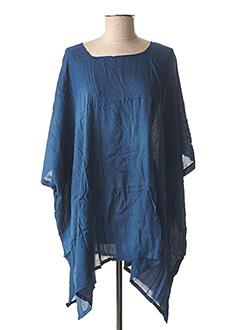 Poncho bleu BEACHWEAR pour femme