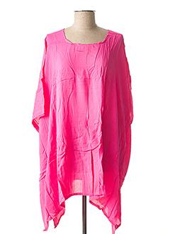 Poncho rose BEACHWEAR pour femme