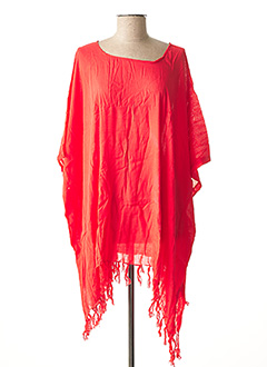 Poncho rouge BEACHWEAR pour femme