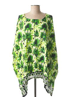 Poncho vert BEACHWEAR pour femme