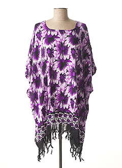 Poncho violet BEACHWEAR pour femme