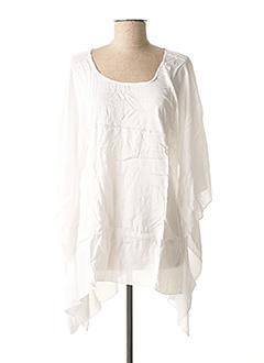 Tunique manches courtes blanc BEACHWEAR pour femme