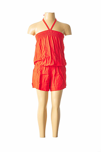 Combishort orange BEACHWEAR pour fille