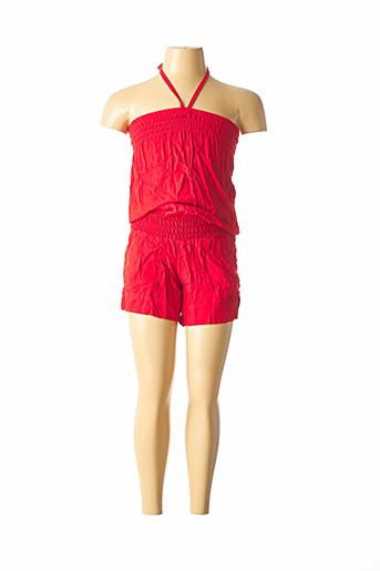 Combishort rouge BEACHWEAR pour fille