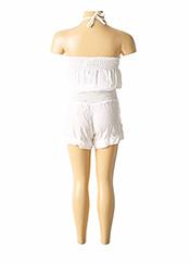 Combishort blanc BEACHWEAR pour fille seconde vue