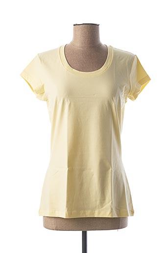 T-shirt manches courtes jaune CALIDA pour femme