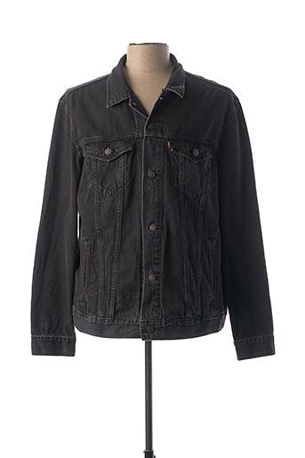Veste en jean noir LEVIS pour homme