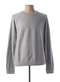 Pull col rond gris DOCKERS pour homme
