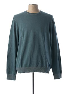 Pull col rond vert DOCKERS pour homme