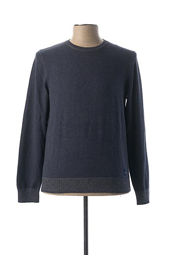 Pull col rond bleu DOCKERS pour homme