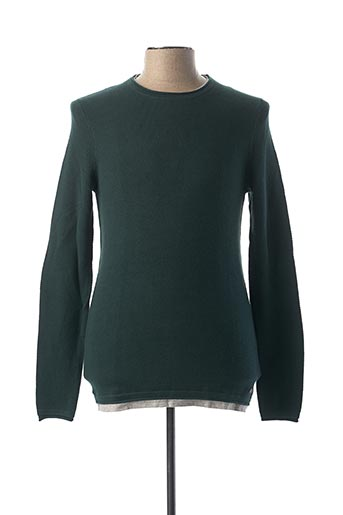 Pull col rond vert SALSA pour homme
