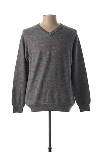 Pull col V gris ARISTOW pour homme