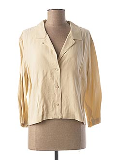 Chemisier manches longues beige NICE THINGS pour femme