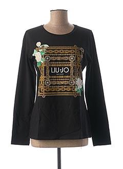 T-shirt manches longues noir LIU JO pour femme