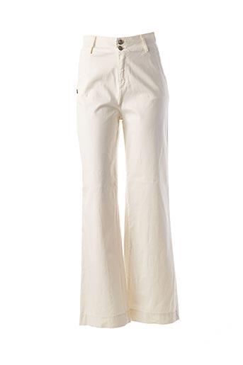 Pantalon casual beige PAKO LITTO pour femme