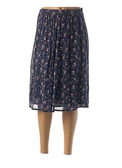 Jupe mi-longue bleu HARRIS WILSON pour femme