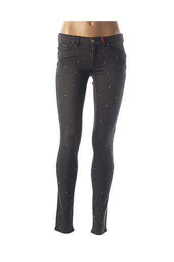 Jeans coupe slim noir I.CODE (By IKKS) pour femme