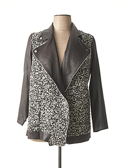 Manteau court noir JEAN MARC PHILIPPE pour femme