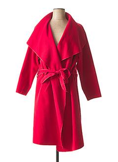 Manteau long rouge MAGNA pour femme