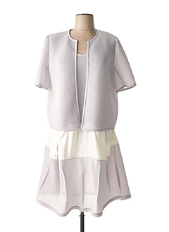 Veste/robe gris OLIVIER WARTOWSKI pour femme