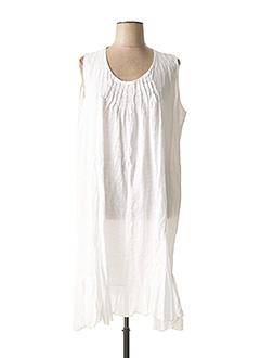 Robe longue blanc PIMENT ROUGE pour femme
