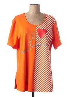 T-shirt manches courtes orange LADY BELLE pour femme