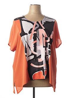 Top orange ALAIN MURATI pour femme