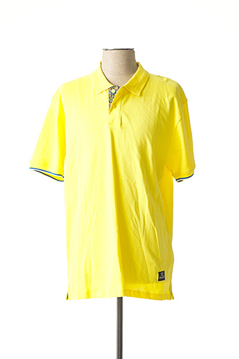 Polo manches courtes jaune RECYCLED ART WORLD pour homme