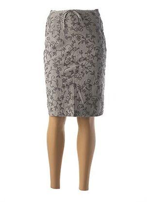 Jupe mi-longue gris CREEKS pour femme